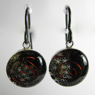 Orgonite Earrings - Black Chi