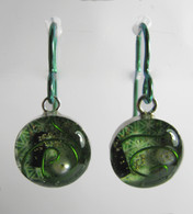 Orgonite Earrings - Green Tree