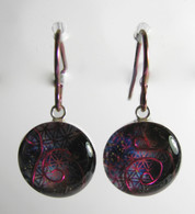 Orgonite Earrings - Pink Fire