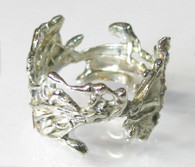 """Alien Nature - Crown"" Silver Ring"