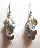 Hammered Silver Cluster Earrings