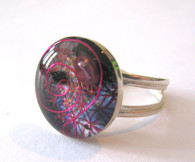 Orgonite Ring - Pink Fire
