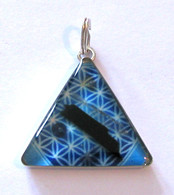 Orgonite Pendant - Blue Scale