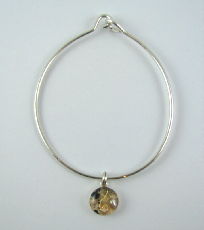 orgonite charm bracelet peachy heidi light