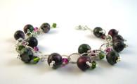 Ruby Zoisite Cluster Bracelet