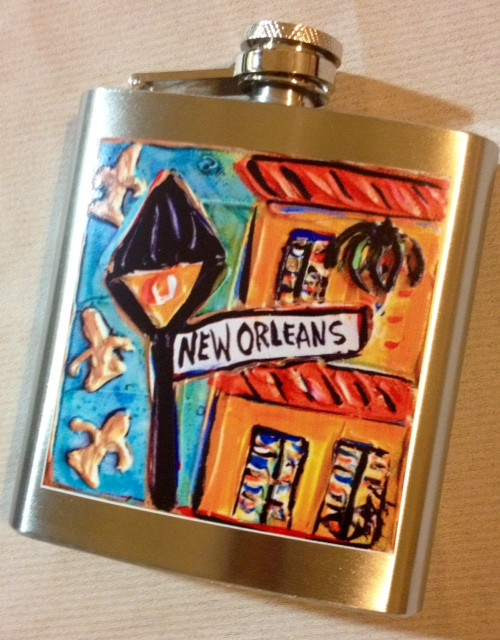Flask new orleans art by jax store for Craft store new orleans