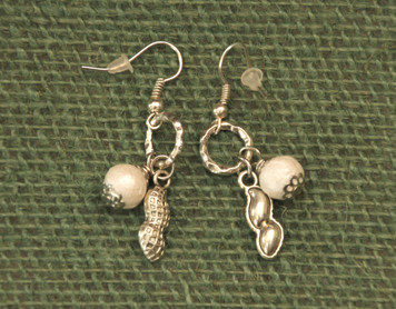 Small Peanut & Pear Earrings