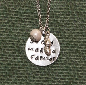 "So God Made a Farmer Necklace (18"" chain)"