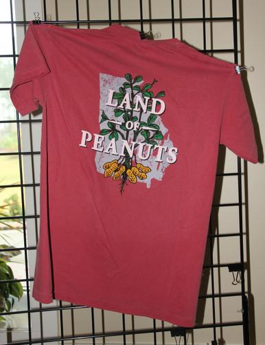 "Georgia Peanuts ""Land of Peanuts"" crimson t-shirt"