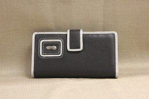 Ladies Checkbook- Black/Silver