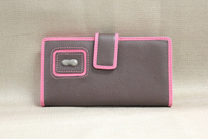 Ladies Checkbook- Brown/Pink