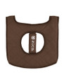 Zuca Seat Cushion - Brown/Turquoise
