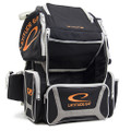 Latitude 64 DG Luxury E3 Backpack Disc Golf Bag - Black/Silver/Orange