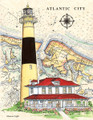 "Absecon Inlet Lighthouse - 8.5"" x 11"" Fine Art Print"
