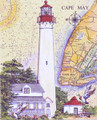 Cape May Sea Chart Light - Fine Art Print