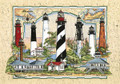 Lighthouses Of Florida Sea Chart Collage