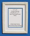 """8-1/2"""" x 11"""" Prints Custom Framed in 11"""" x 14"""" White Washed Wood Frame."""