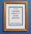 "8-1/2"" x 11"" Prints Custom Framed in 11"" x 14"" Oak Frame"