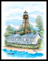 Sanibel Island Lighthouse by Donna Elias