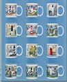ON SALE! Lighthouse Coffee Mugs - 12 Assorted Mugs