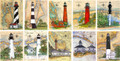 Florida Lighthouse Collection - 10 Sea Chart Light Prints  - 50% OFF!