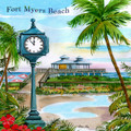 Fort Myers Beach Tile by Donna Elias