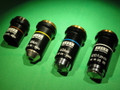 ZEISS MICROSCOPE OBJECTIVES - SET OF FOUR