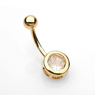 GDPN-001 GOLD PLATED BELLYRING