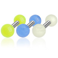 JAG Tragus/Cartilage Barbell with Glow In The Dark Ball