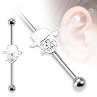 BIA02 Steel Skull Hat Industrial Barbell
