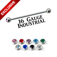 16 Gauge Industrial Bar with Gems