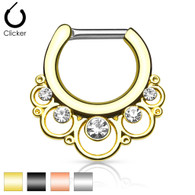 SEP-48 Floral Round with Gems IP Septum Clicker