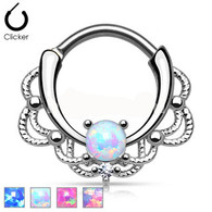 SEP2-29 Lacey Single Opal Septum Clicker