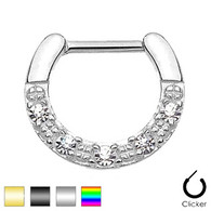SEPS-08 Five CZs Paved Single Line Septum Clicker