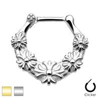 SEPS-07 Floral All 316L Surgical Steel Septum Clicker