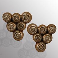 14K white gold stud earrings with 30pt. diamond.  5.9X8.1mm.
