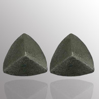 Silver stud earrings.  10.5X10.5mm.