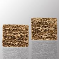 Silver cufflinks, Wildness of Nature design.  15X18.5mm.