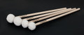 1 pair of MM540 Bamboo Wrapped Timpani (Hard) Mallets on birch handles. Pictured together with MM530 (Medium). Timpani Mallets you can touch.