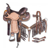 11/3 Lucky Cowgirl Draw Naomi Collection 5 Piece Saddle Package
