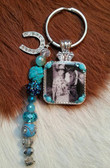 Photo Concho Key Ring w/Beadstring