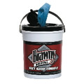 BRAWNY IND. WET HAND TWL PAIL,BLUE WIPES 6/72WP