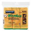 WYPALL MICROFIBER CLOTHS GOLD 4/6'S