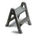 FLD 2-STEP STOOL 300 LB MAX GRA 3/CTN