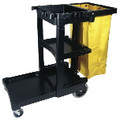 CLNING CART W/ZIPPERED YEL VINYL BG BLA