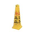 WET FLR SAFETY CONE 10.5X10.5X25.8 MLTILNG YEL 6