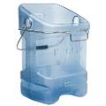 ICE TOTE W/BIN HOOK ADAPTER TRANS BLU