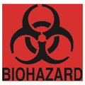 DECAL FLUORESCENT ORANGE-RED BIO HAZARD