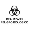 LABEL BILINGUAL BIO HAZARD 7 IN X 10 IN