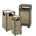 HINGED-TOP WASTEBASKET 29 GL BRO